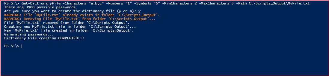 PowerShell Module DictionaryFile - Get-DictionaryFile - Example 1PowerShell Module DictionaryFile - Get-DictionaryFile - Example 2