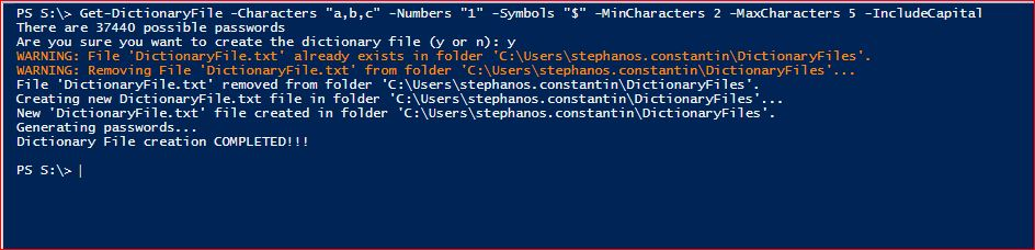 PowerShell Module DictionaryFile - Get-DictionaryFile - Example 3