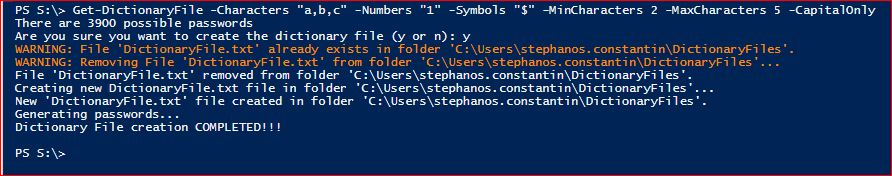 PowerShell Module DictionaryFile - Get-DictionaryFile - Example 4