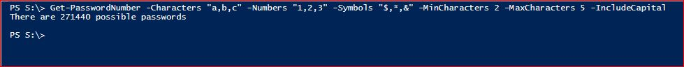 PowerShell Module DictionaryFile - Get-PasswordNumber - Example 2