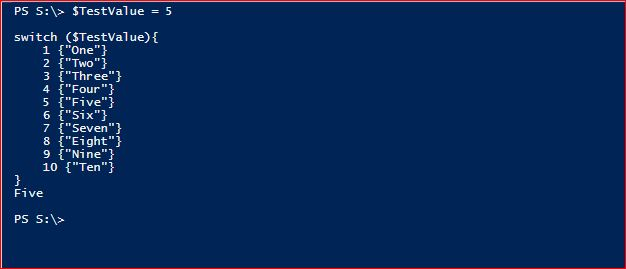 PowerShell Switch - Example 1