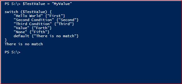 PowerShell Switch - Example 10