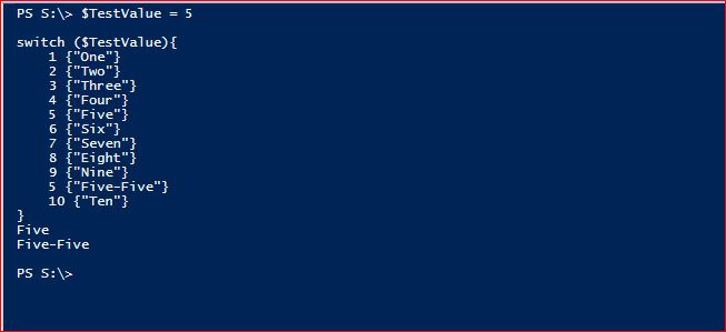 PowerShell Switch - Example 2