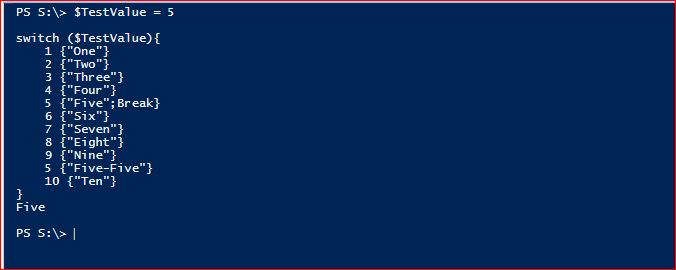 PowerShell Switch - Example 3