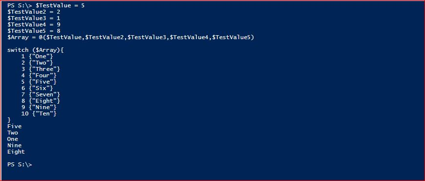 PowerShell Switch - Example 5
