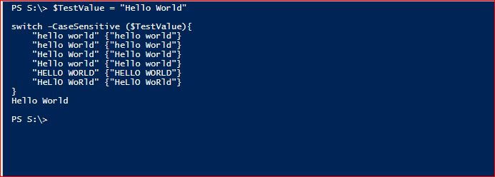 PowerShell Switch - Example 7