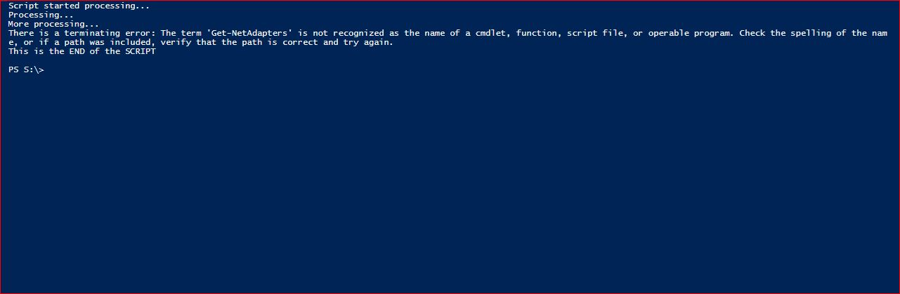 PowerShell Trap - Example 10