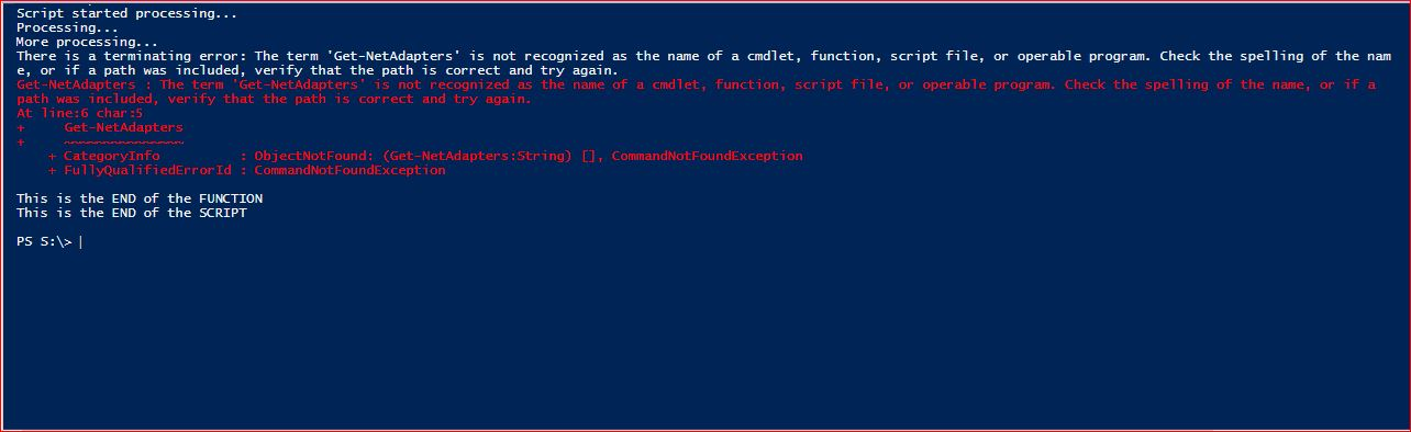 PowerShell Trap - Example 5