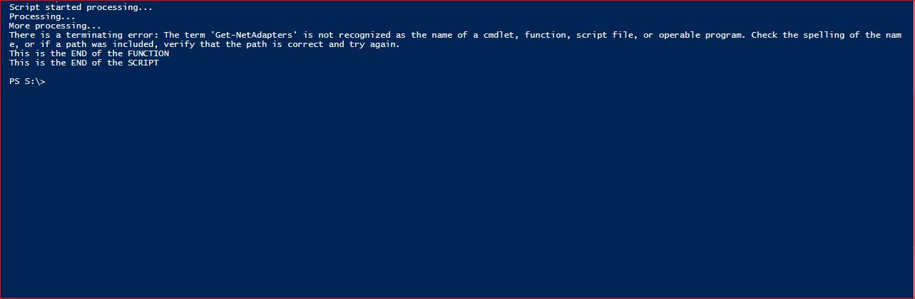 PowerShell Trap - Example 8