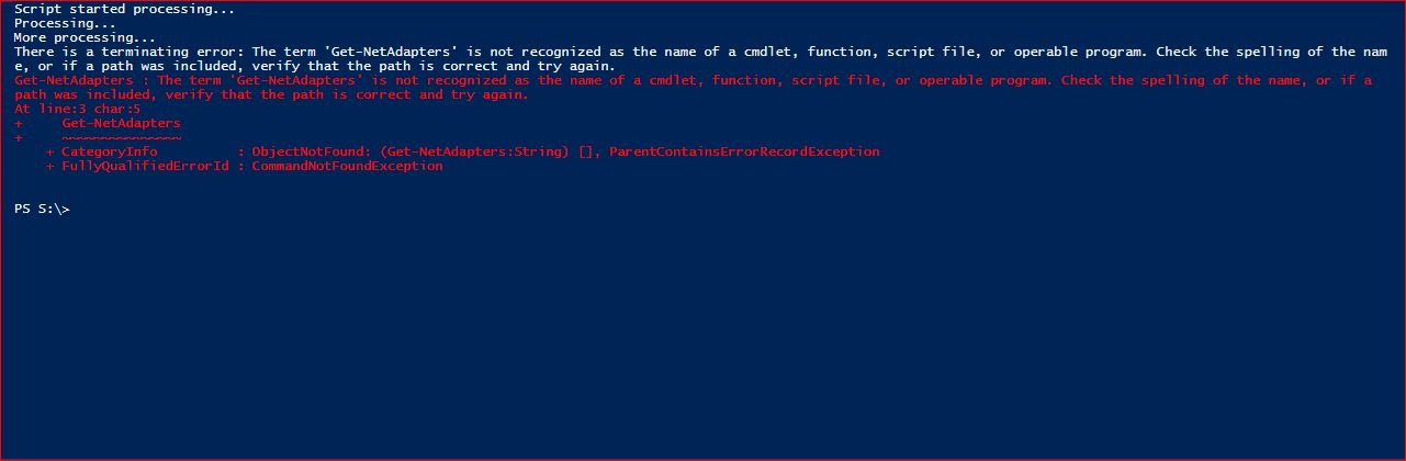 PowerShell Trap